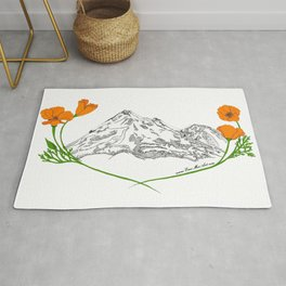 Shasta Poppies - Pop of Color Rug