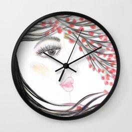 Sakura Face Wall Clock