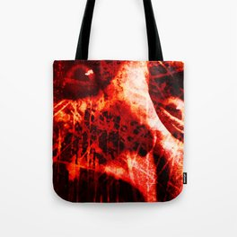 The Scream (In Red) Tote Bag