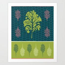 Tropical Paleo –Kale in Lime Art Print