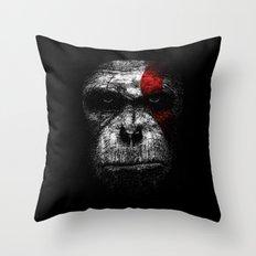 Ape of war Throw Pillow