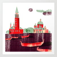 venice Art Prints featuring Venice by Claudia Voglhuber