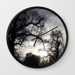Oaks in Sunlight Wall Clock