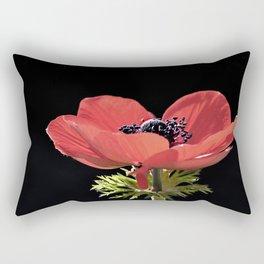 Red Anenome Rectangular Pillow