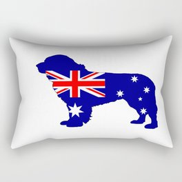 Australian Flag - Newfoundland Dog Rectangular Pillow