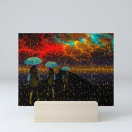 Radioactive rain Mini Art Print