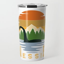 Nessie vintage sunset Travel Mug