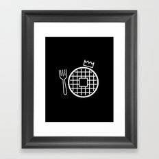 waffle king Framed Art Print