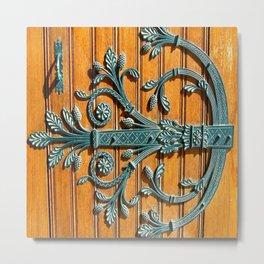 Monte-Carlo Cathedral Door Hinge Metal Print