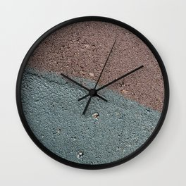 Silver Waves on Concrete Wall Clock