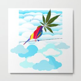 Elevate Your Vibe Metal Print