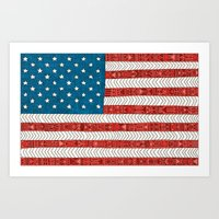 novelty Art Prints featuring USA by Bianca Green