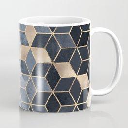 Soft Blue Gradient Cubes Kaffeebecher