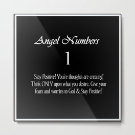 angeL Numbers #1 Metal Print