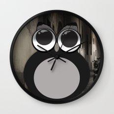 Gothic owl Wall Clock
