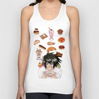 death note Tank Tops featuring L from Death Note by Naineuh