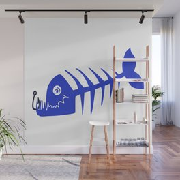 Pirate Bad Fish blue- pezcado Wall Mural