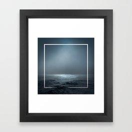 Twilight Geometry Framed Art Print