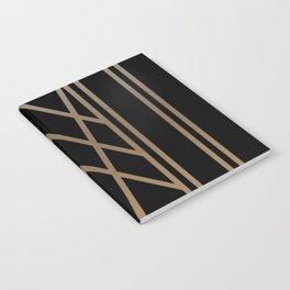 BLACK&GOLD 2 (abstract artdeco geometric) Notebook