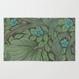William Morris Art Nouveau Forget Me Not Floral Rug