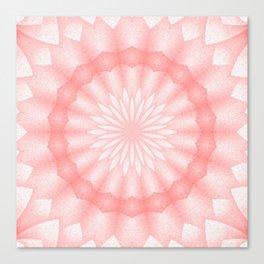 Mozaik Mandala Flower (coral) Canvas Print