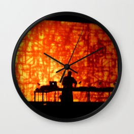 WILD FLAME DEEJAY PROJECTIONS Wall Clock