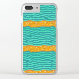 above the beach Clear iPhone Case