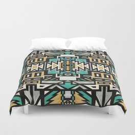 Ethnic african geometric pattern Duvet Cover