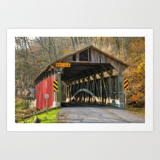 Speakman Covered Bridge Art Print