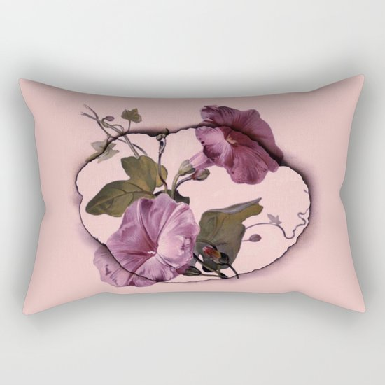 convolvulus and tile Rectangular Pillow