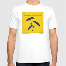 No254 My SINGIN IN THE RAIN minimal movie poster MEDIUM Mens Fitted Tee White