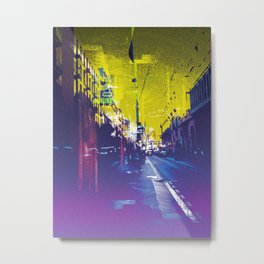 """""""often takes place along sections of road where there is no planned scheme"""" Metal Print"""