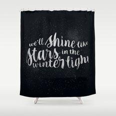 Shine like Stars - Winter Shower Curtain