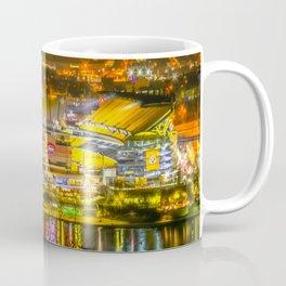 Pittsburgh Football Stadium Night View Steel City Coffee Mug