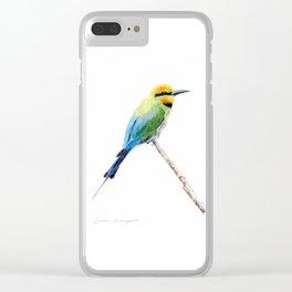 Rainbow Bee Eater by Teresa Thompson Clear iPhone Case