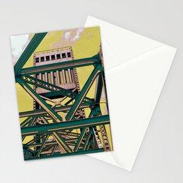 Main street bridge art print - Jacksonville, Florida - industrial steel beauty Stationery Cards