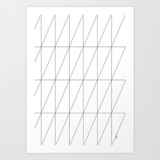 Inverted Triangles by Friztin Art Print