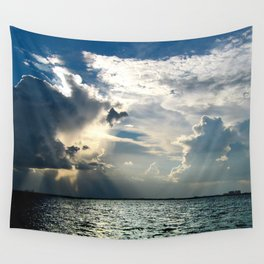Coconut Grove Sailing Day Wall Tapestry