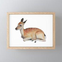 Deer Fawn Illustration Framed Mini Art Print