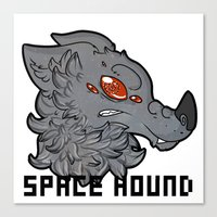 the hound Canvas Prints featuring Space Hound by LyShark