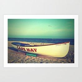 Cape May Lifeboat Art Print