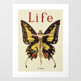 The Flapper by F.X. Leyendecker - Life Magazine Cover Art Print Art Print