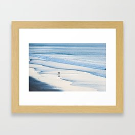 Alone by the sea. Framed Art Print