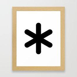 X Y Z Framed Art Print