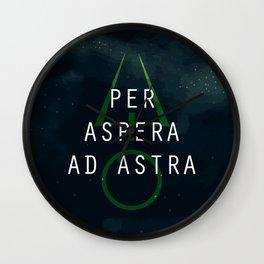 Per Aspera Ad Astra Wall Clock