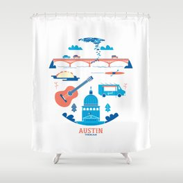 Love Letter to Austin, Texas Shower Curtain