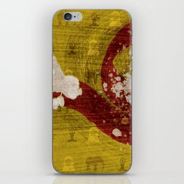 """Fire And Flame (Homage to Dhalsim of """"Street Fighter"""") iPhone Skin"""