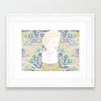 marie antoinette Framed Art Prints featuring MARIE ANTOINETTE by Itxaso Beistegui Illustrations