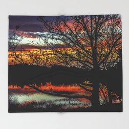 Halibut Point Sunset Throw Blanket