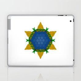 Big blue flower Laptop & iPad Skin
